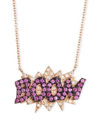 18K Rose-Gold Boom Pop Art Pendant Necklace