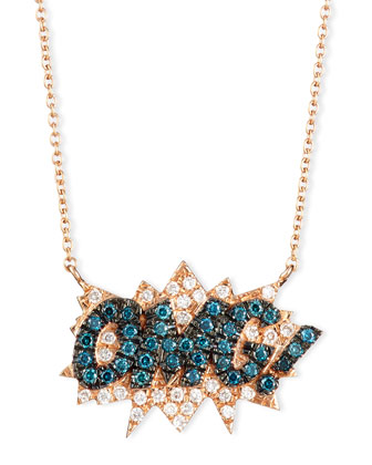 18K Rose-Gold OMG! Pop Art Pendant Necklace