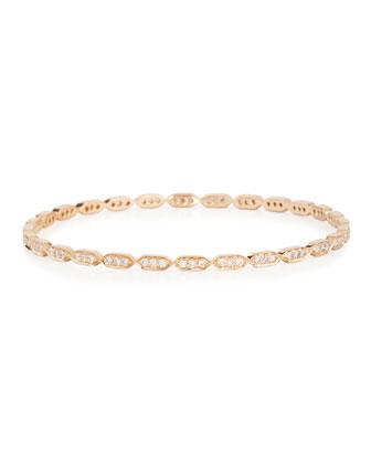 18K Rose Gold Diamond Deco Bangle Bracelet