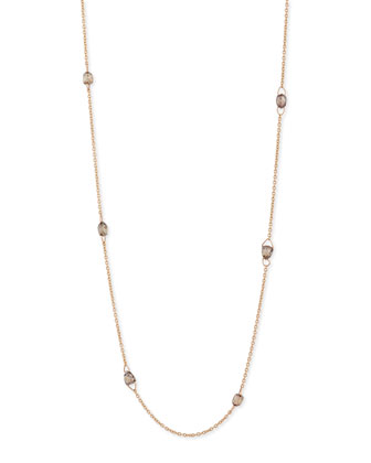 18K Rose-Gold Drill-Faceted Brown Diamond Necklace