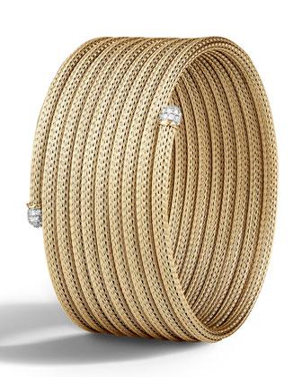 Medium Classic Chain Coil Cuff Bracelet
