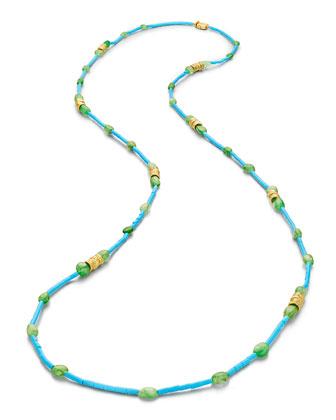 Wonderland Turquoise Tube Necklace, 40