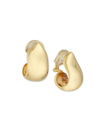 18K Yellow Gold XL Clip-On Earrings