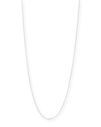 18K White Gold Eight Chain, 35