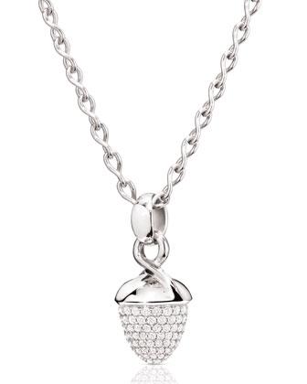 Mikado Bouquet 18K White Gold Pavé Diamond Pendant Enhancer