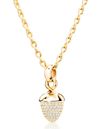Mikado Bouquet 18K Yellow Gold Pavé Diamond Pendant Enhancer