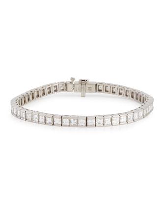 Platinum Princess-Cut Diamond Line Bracelet
