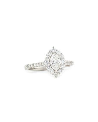18K White Gold Marquis Diamond Ring