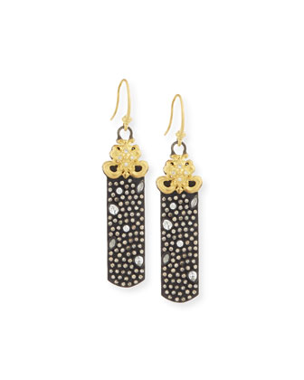 Old World Pavé Diamond Drop Earrings