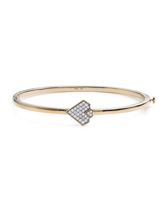 #She'sBrilliant Diamond Empowerment Hinge Bracelet