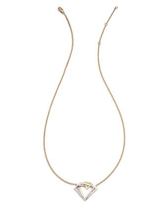 #She'sBrilliant Geometric Intertwined Diamond Pendant Necklace