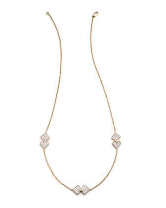 #She'sBrilliant Triple Diamond Station Necklace