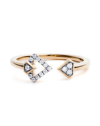 #She'sBrilliant Open Diamond Stacking Ring