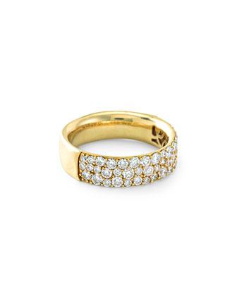 18K Glamazon Stardust Pavé Diamond Ring, Size 7