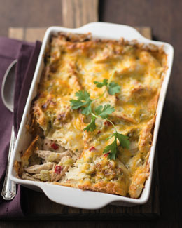 CAJUN TURKEY COMPANY Green Chili Chicken Casserole