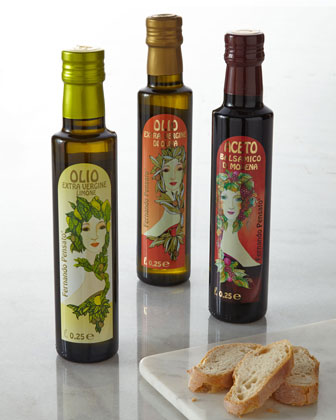 Art Nouveau-Inspired Italian Olive Oil & Balsamic Vinegar