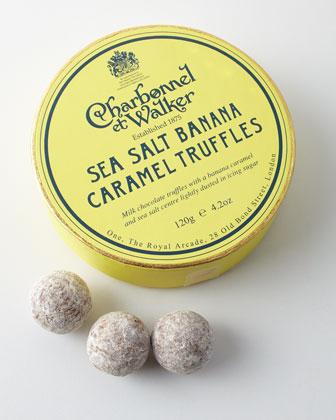 Sea Salt Banana Caramel Truffles