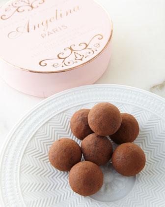Dark-Chocolate Caramel Truffles