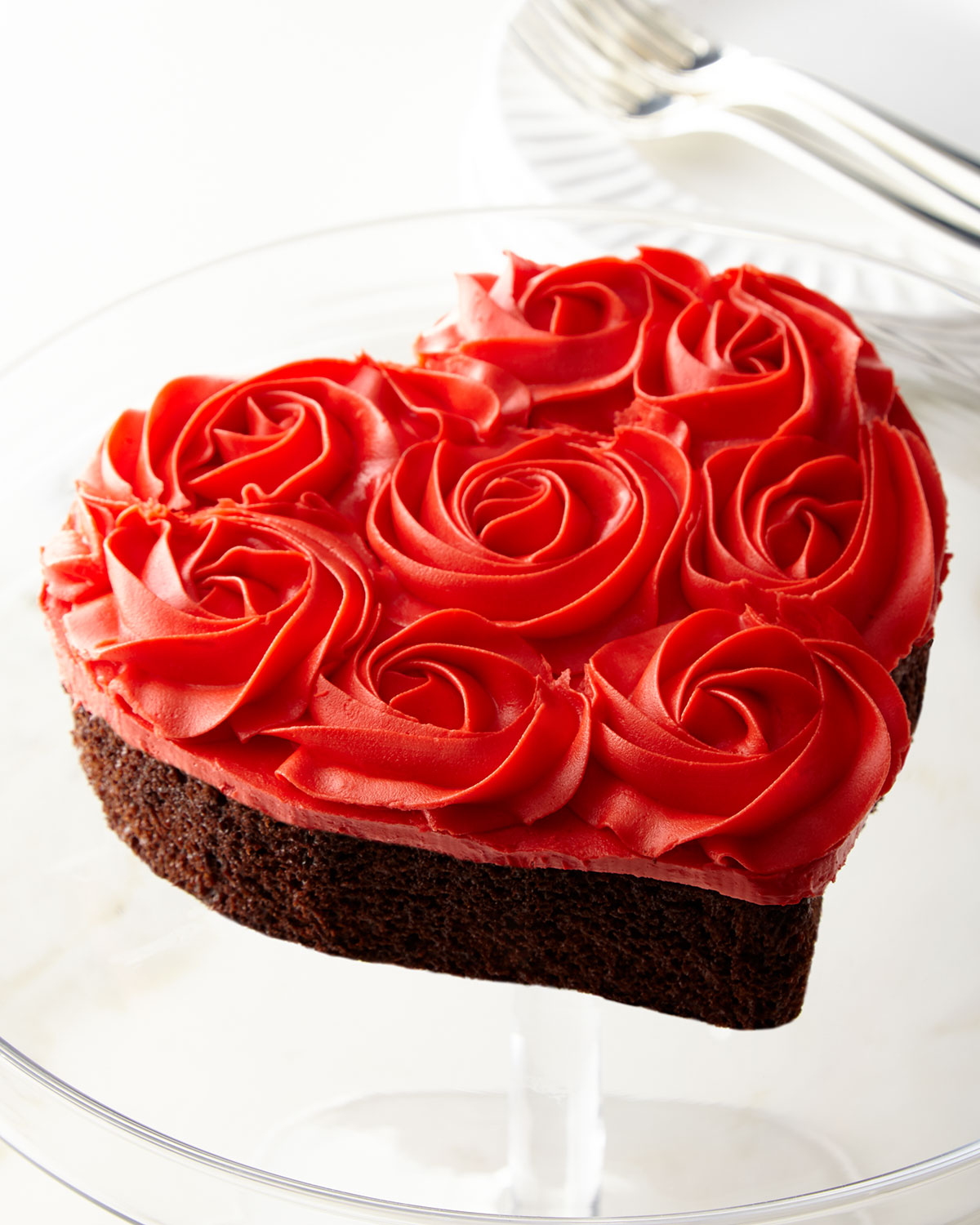 Red Rose Heart-Shaped Cake - Neiman Marcus