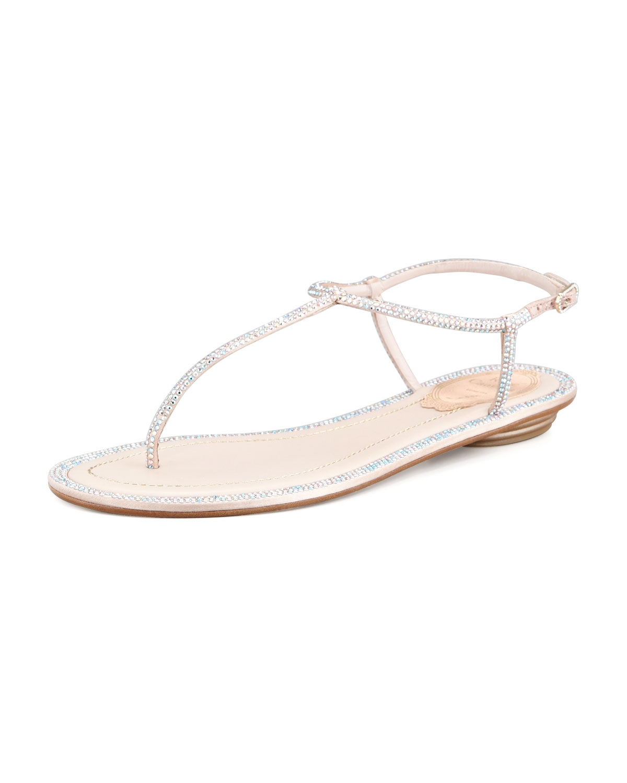1e48f5d4238dfa Crystal Flat Thong Sandal