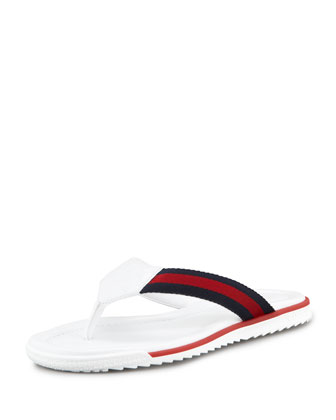 GG Beach Thong Sandal, White