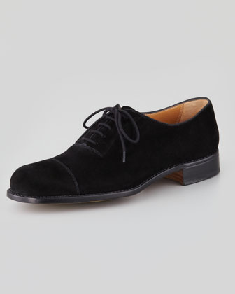 Suede Cap-Toe Oxford