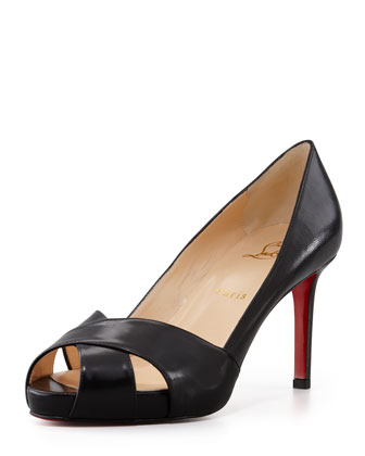 Shelly Matte Crisscross Red Sole Pump