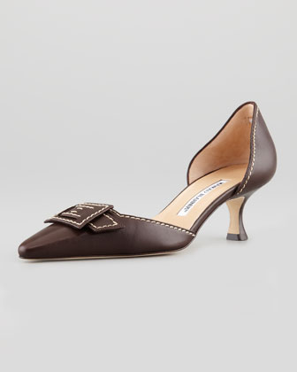 Ragno Low-Heel d'Orsay, Dark Brown