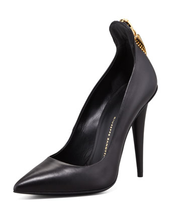 Horn Zip-Back Pump, Black