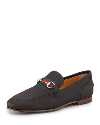 Flat Suede Loafer, Chocolate Brown