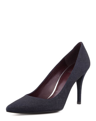 Daisy Pointy-Toe Pump, Navy