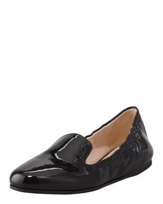 Patent Scrunch Loafer Flat