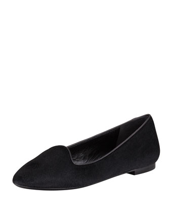 Calf Hair Smoking Slipper