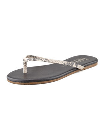 Facepaints Snake-Print Thong Sandal