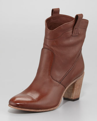 Mid-Shaft Western Boot, Brown