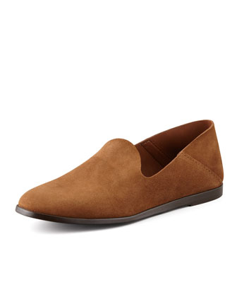 Yoshi Suede Slip-On Loafer, Brown