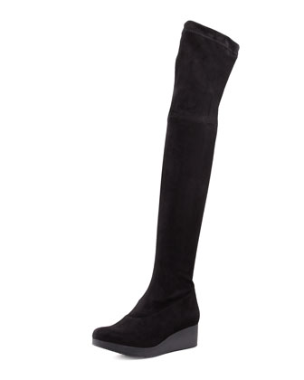 Vatuf Stretch Wedge Over-the-Knee Boot