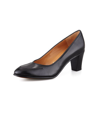 Leather Apron-Toe Pump