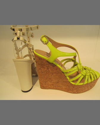 Kate Slipknot Cork Wedge Sandal