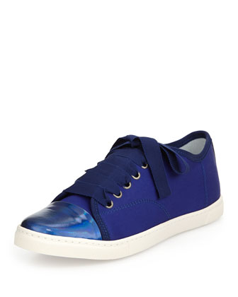 Nylon Cap-Toe Low-Top Sneaker