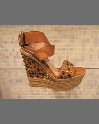 Hubcaps Studded Wedge Sandal