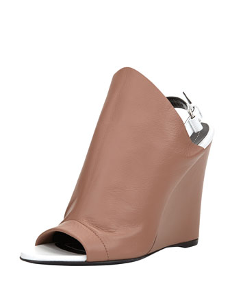 Slingback Glove Wedge Sandal, Rose