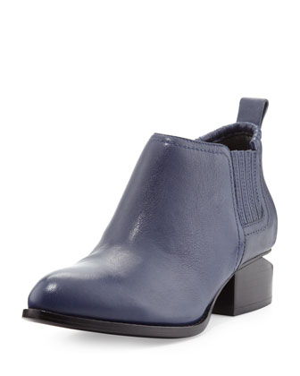 Kori Leather Ankle Bootie, Indigo