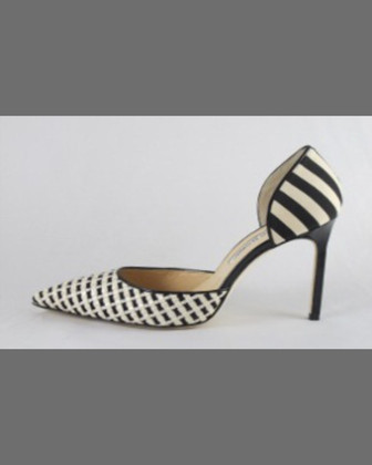 Carolyndo d'Orsay Pump, Black/White