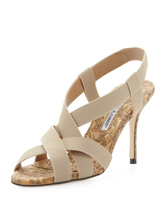 Lasti Cork Stretch Sandal, Beige