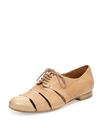 Ishiro Caged Lace-Up Loafer, Sand