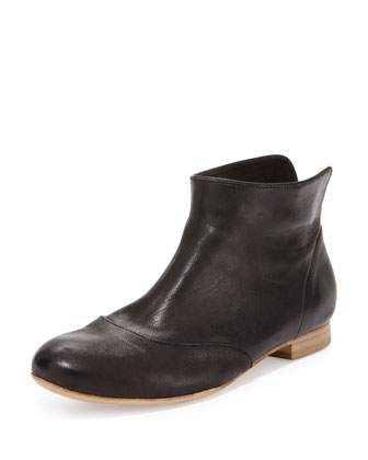 Isla Leather Ankle Bootie, Black