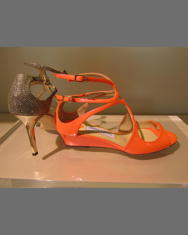 e83fb64c2723 Inka Glitter Demi Wedge Sandal
