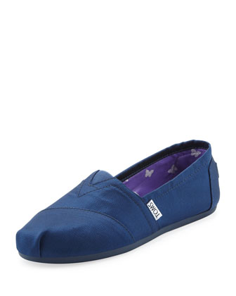 Grosgrain Slip-On, Navy