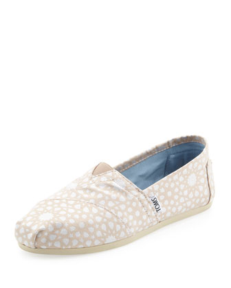 Metallic Grosgrain Slip-On, Tan